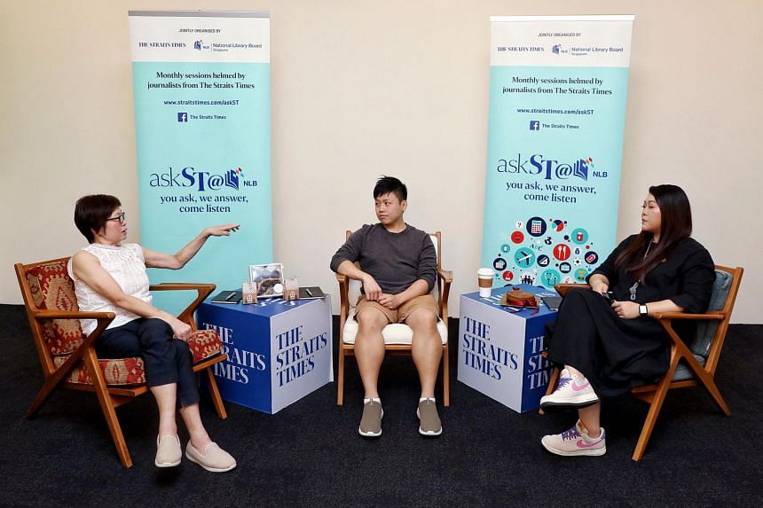 (From left) ST Food Editor Tan Hsueh Yun, Xavier Lee of Flourcrafts Patisserie and Karen Yuen of Munch-Kins discuss home-based businesses.
