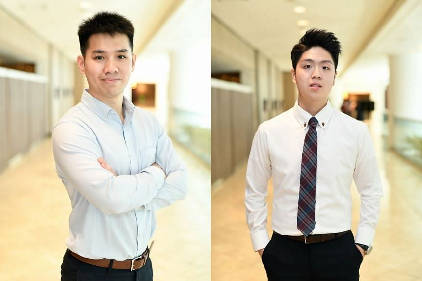 Murdoch University's flexible programme structure has enabled professionals like software engineer Ang Bing Quan (left) and regional accounts associate at an employment solutions company Nathaniel Liew to upgrade their skillsets to progress in thei