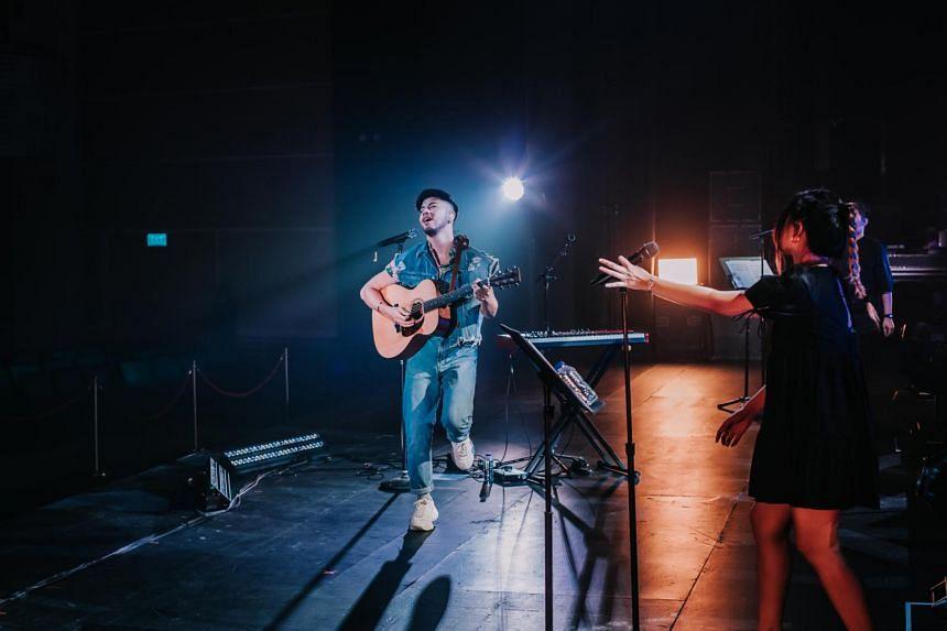 Benjamin Kheng at the Back To Live concert on Dec 18, 2020.