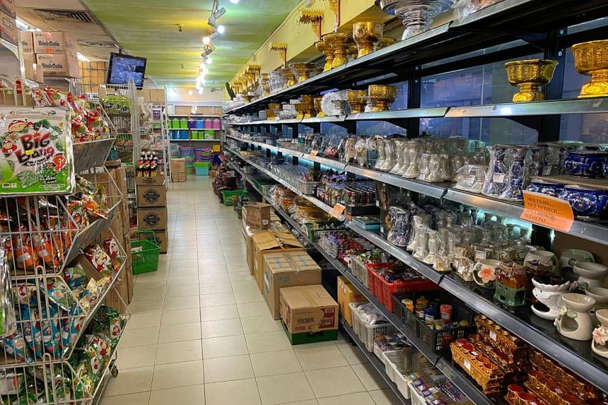 The interior of the Thai Supermarket on the second floor of the Golden Mile Complex, which sells many Thai products.