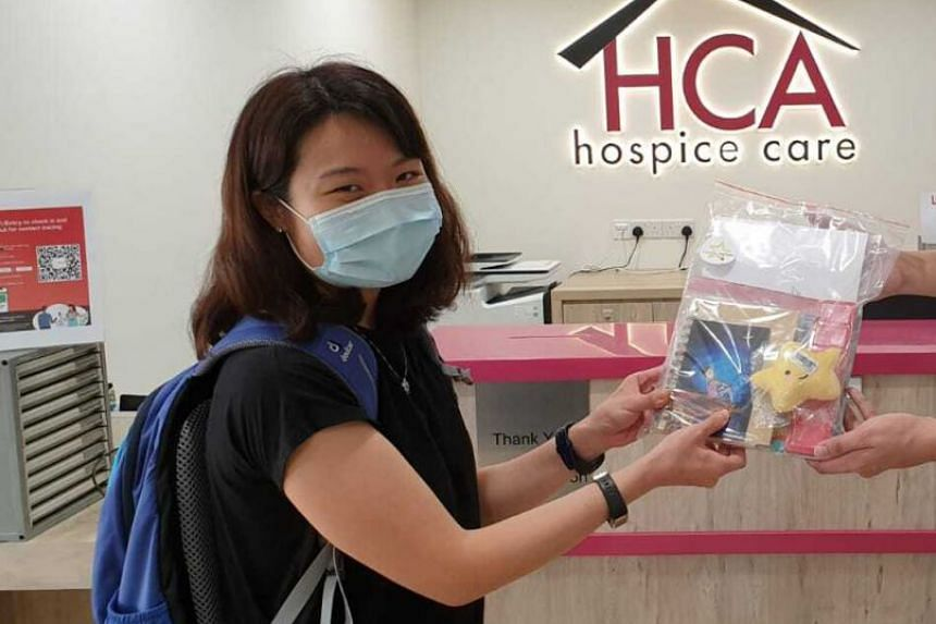 A Light in the Night care kits are an initiative by Ms Florence Fong (above) to bring comfort to those who are mourning the loss of their loved ones. The packages include items such as art supplies, a journal, scented candles, essential oils, a soft