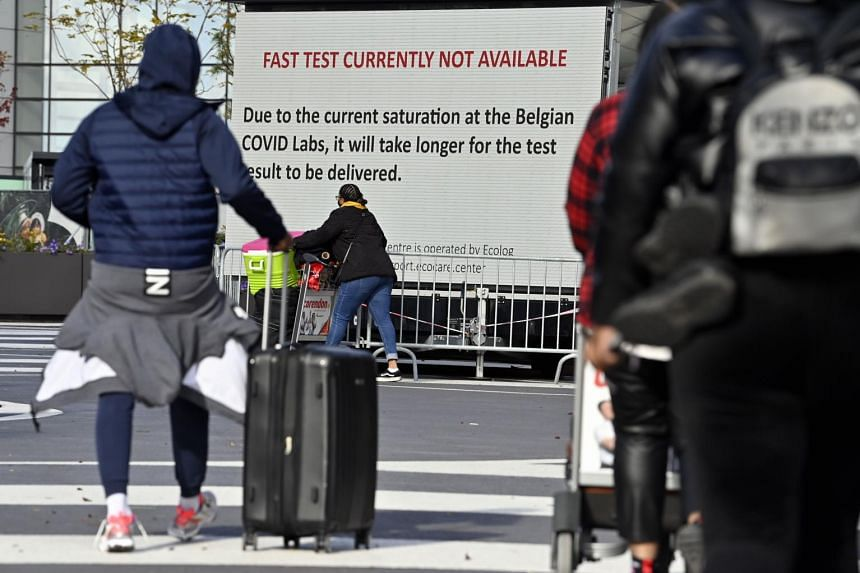 Belgium's travel suspension from Britain would affect flights and the Eurostar train service that runs from London.
