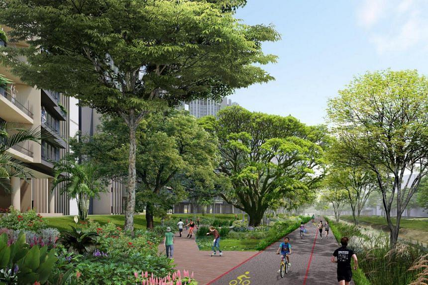 An artist's impression of a future housing estate in Ulu Pandan.