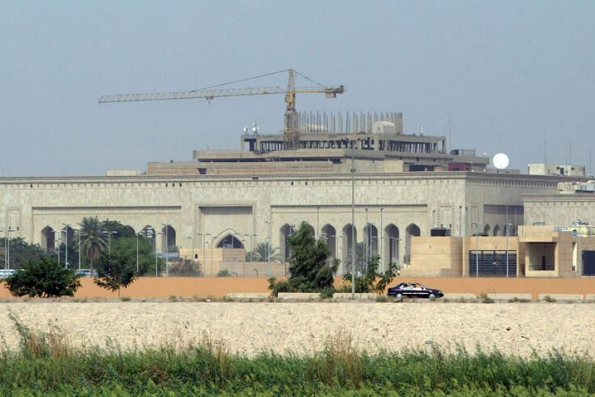 The US embassy complex in Baghdad seen on Oct 11, 2007. At least three rockets landed near the US embassy.
