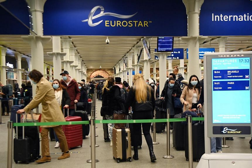 At London's St. Pancras International station, the terminal for Eurostar, thousands of travellers tried to secure places on trains.