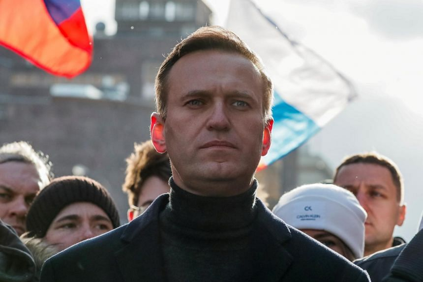"""The Kremlin described Mr Alexei Navalny (above) as a """"sick"""" man who was suffering from """"delusions of persecution""""."""