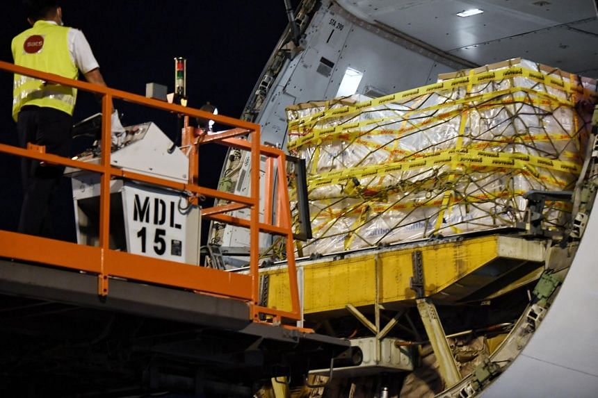The first shipment of Covid-19 vaccines arrived in Singapore on Dec 21.