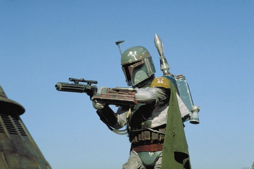 A still from Star Wars: Episode VI - Return Of The Jedi featuring Boba Fett.