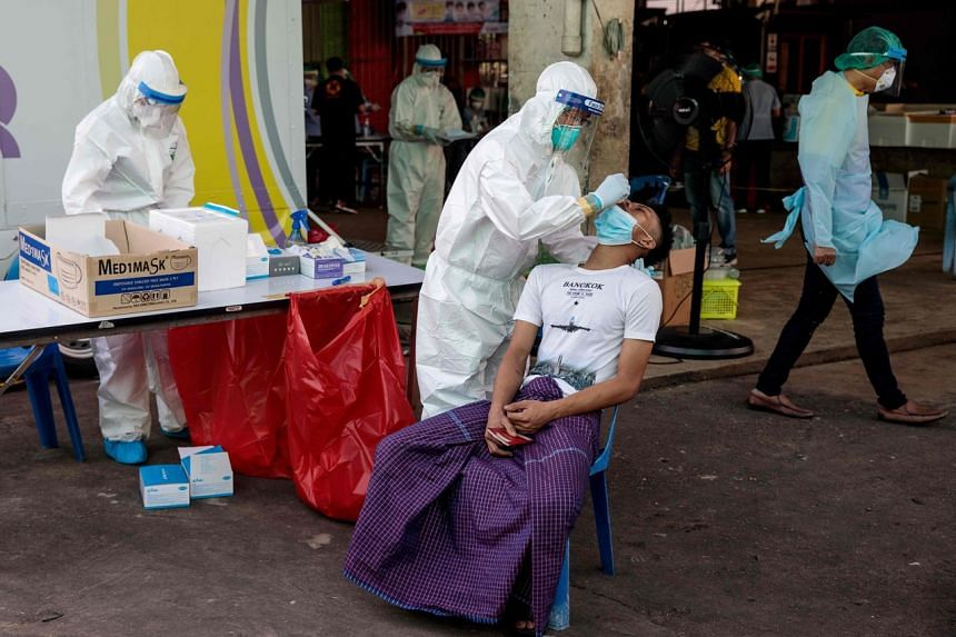 Thailand discovered a record cluster of infections in Samut Sakhon province last week.