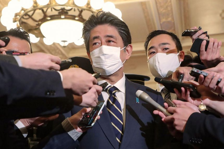Former Japanese PM Shinzo Abe submitted to voluntary questioning by prosecutors on Dec 21, 2020.