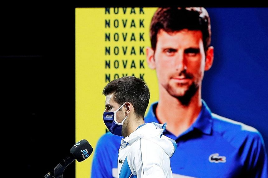 """Novak Djokovic says the ATP's new rule means there is a """"conflict of interest"""" with his involvement in the new breakaway Professional Tennis Players Association."""