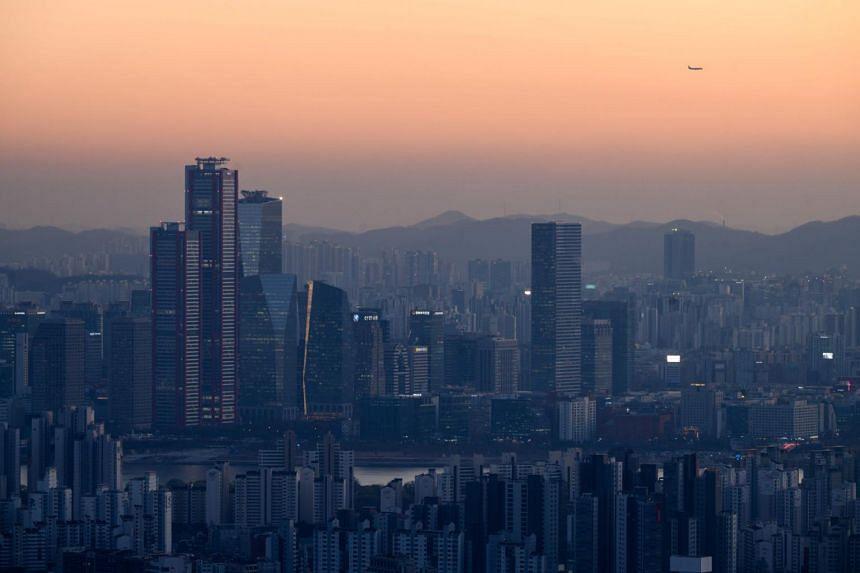 The city skyline of Seoul on Nov 24, 2020.