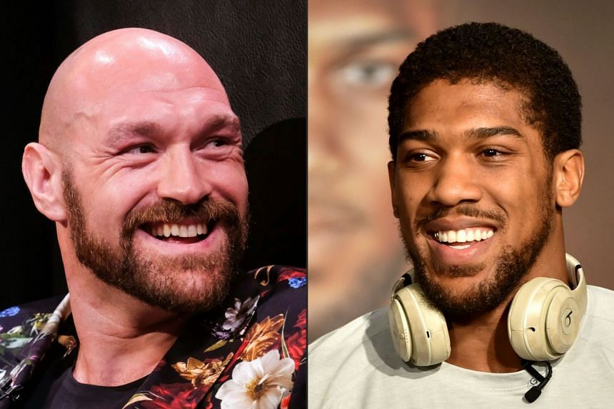 Joshua (right) confirmed talks are under way for him to fight Fury (left).