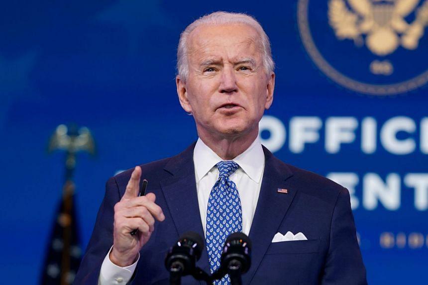Biden delivers remarks in Wilmington, Delaware on Dec 22, 2020.