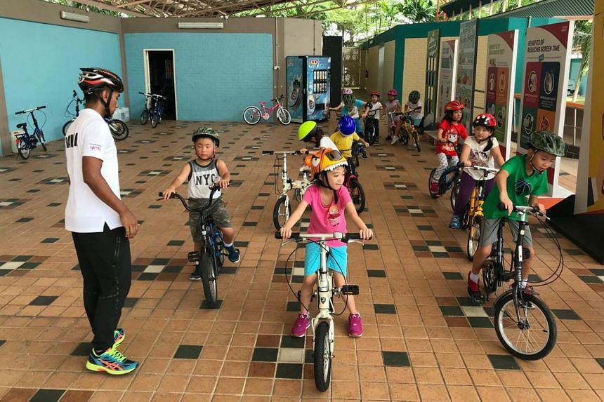 A Singapore Cycle Safe Programme session organized by the Singapore Cycling Federation before the Covid-19 pandemic.