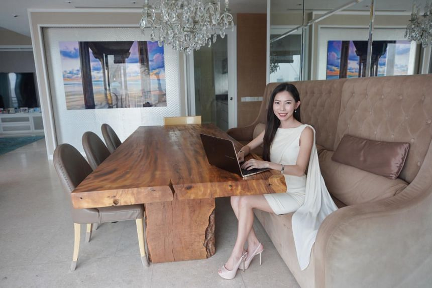 Rhonda Wong at her favourite part of her home.