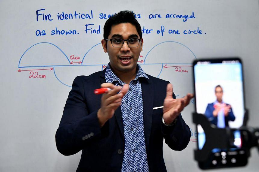Tuition teacher Saiful Rizal Azman posts videos teaching mathematics as Coach Saiful.