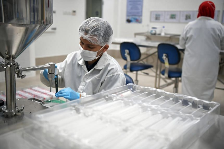 The biomedical manufacturing cluster's output jumped 40.6 per cent compared with a year ago.