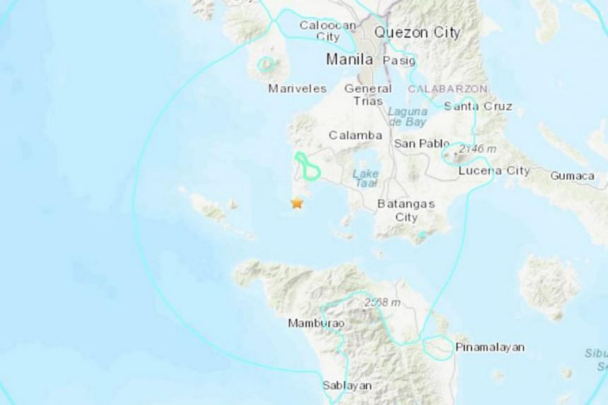 The centre of the earthquake was traced at Calatagan in Batangas province.