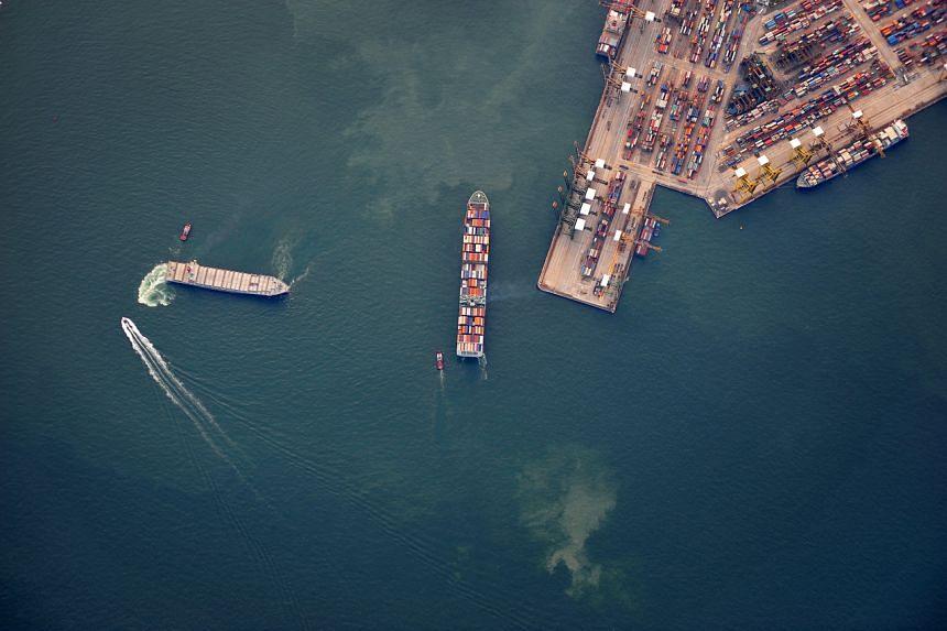 Singapore's sea cargo volume has hovered around the same levels.