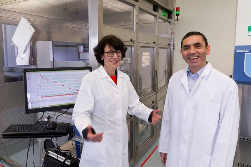 Ozlem Tureci (left) and her husband Ugur Sahin are the founders of German company BioNTech.