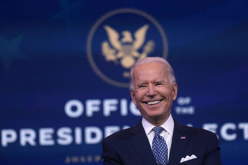 Joe Biden has indicated he will not prioritise sweeping new trade deals.