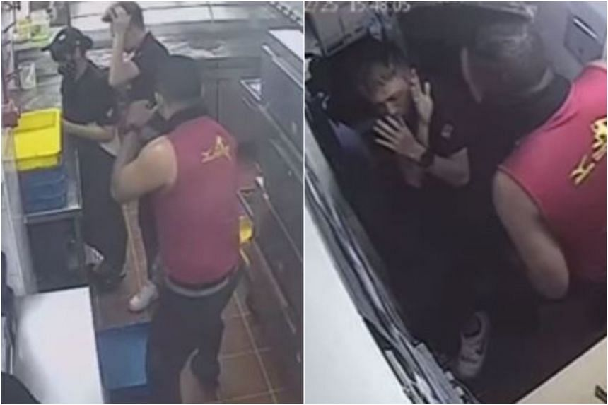 The incident was said to have taken place at Domino's Pizza's West Coast outlet.