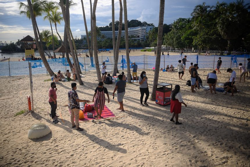 Visitors to Sentosa's beaches, dining establishments and other attractions can make reservations for groups of up to eight starting on Monday.
