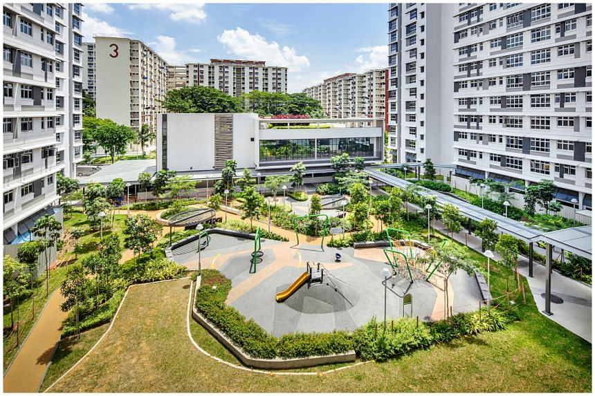 The distinctive features of St George's Towers won Look Architects the HDB design award under the housing category.