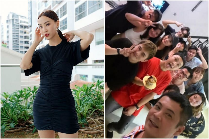 Sonia Chew was among several artists spotted in a picture taken at Jeffrey Xu's 32nd birthday.