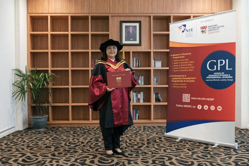 Dr Johannah Soo at the NTU Convocation 2018. PHOTO: NIE NTU, SINGAPORE