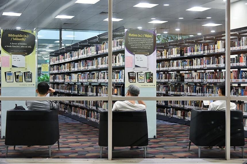On weekends, patrons can visit the National Library (left), regional libraries in Jurong, Tampines and Woodlands, as well as the National Archives of Singapore, for up to three hours. For all other public libraries, visits are capped at two hours. Pa