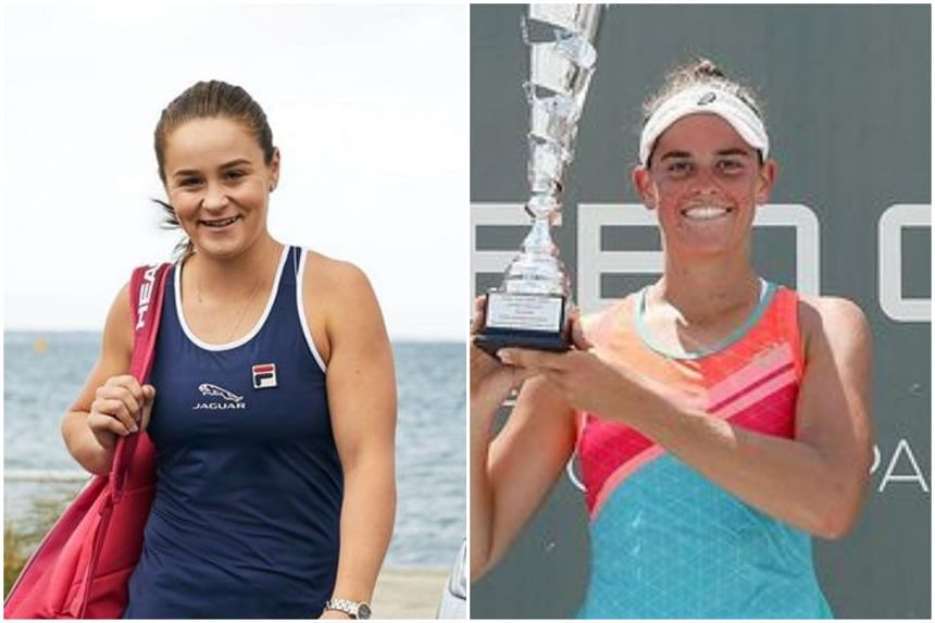 Australian Ash Barty (left) will partner American Jennifer Brady for the 2021 Australian Open.