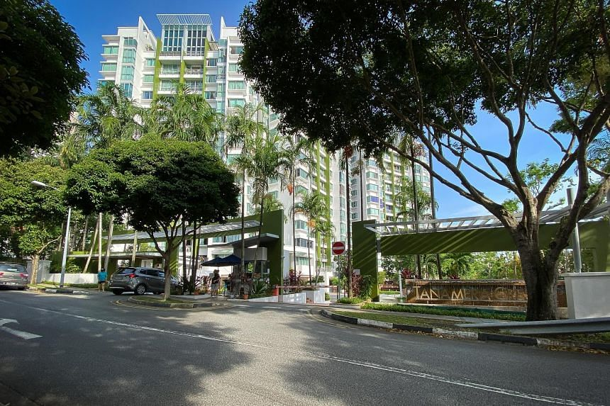 Lim Song Chua, 59, is accused of trying to kill Ms Heng Hwee Chay, 48, in a unit at the Tanamera Crest condominium (above) near New Upper Changi Road between 10pm on Tuesday and 8am on Wednesday.