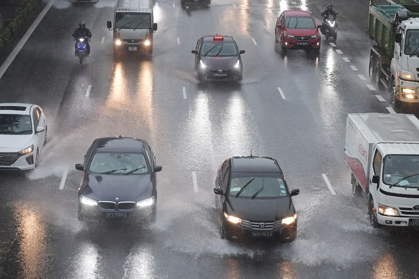 Traffic on the CTE on Jan 2, 2021.