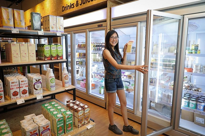 Ms Amanda Teng's Everyday Vegan Grocer at The Grandstand stocks plant-based products that are not tested on animals.
