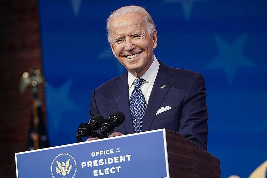 US President-elect Joe Biden's victory in the presidential election is set to be certified on Wednesday. PHOTO: AGENCE FRANCE-PRESSE
