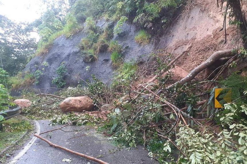 The landslides were believed to have occurred due to continuous rain since Jan 2, 2021.