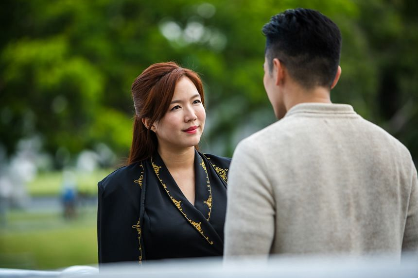 Rui En plays a mysterious woman whose body is inhabited by the souls of two other characters in drama series Mister Flower.