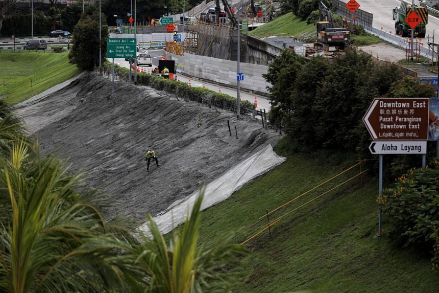 Preliminary investigations showed that the stability of the slip road was not affected, the Land Transport Authority said earlier.