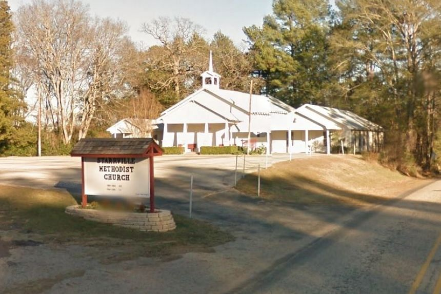 A suspect had been apprehended after the shooting in the Starrville Methodist Church in the town of Winona.