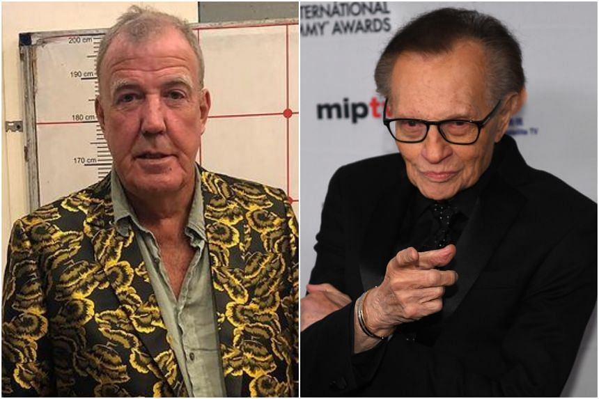 Jeremy Clarkson (left) contracted Covid-19 four days before Christmas, while Larry King has been battling the virus for almost two weeks.