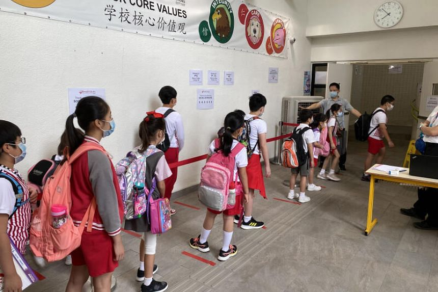Schools in Hong Kong have been mostly shut for a year, with many having switched to online learning and lessons by conference call.
