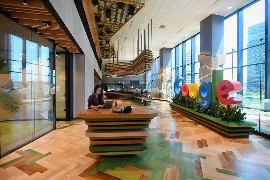 Google's office at Mapletree Business City in Singapore. Google and Facebook are among the big technology companies that continue to take pride and invest in having the world's most enviable workplaces.