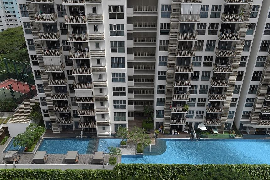 The eCO @ Bedok South condominium. Private home prices increased 2.2 per cent last year, less than the 2.7 per cent gain in 2019. The 2.1 per cent fourth-quarter rise in prices was driven mainly by homes in the rest of central region, where values ro