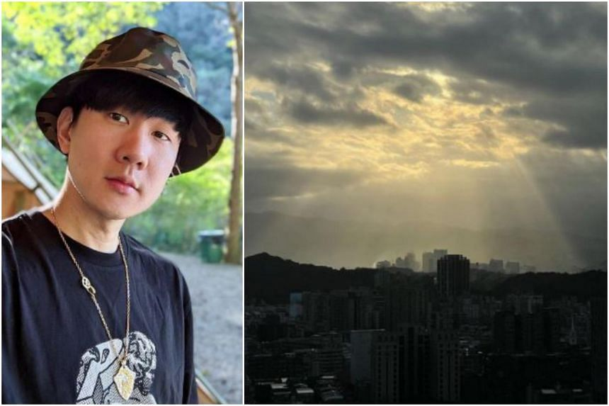 The stunning view was allegedly from his NT$203 million (S$9.5 million) luxury apartment.