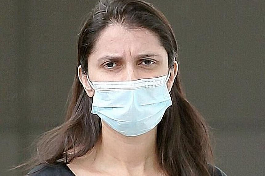 Paramjeet Kaur was charged with offences including failure to wear a mask over her nose and mouth when visiting a food stall in Upper Thomson Road last April amid the coronavirus outbreak. ST FILE PHOTO