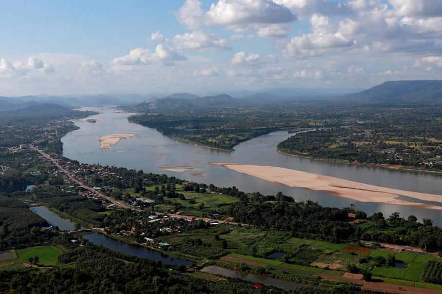The bridge across the Mekong River (above) will connect Laos' Bolikhamxay province to Thailand's Bueng Kan province.