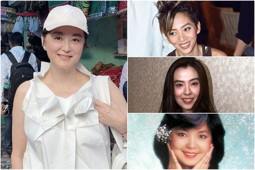 (Clockwise from left) Lin Ching-hsia opened up on social media about her famous friends Anita Mui, Joey Wong and Teresa Teng.