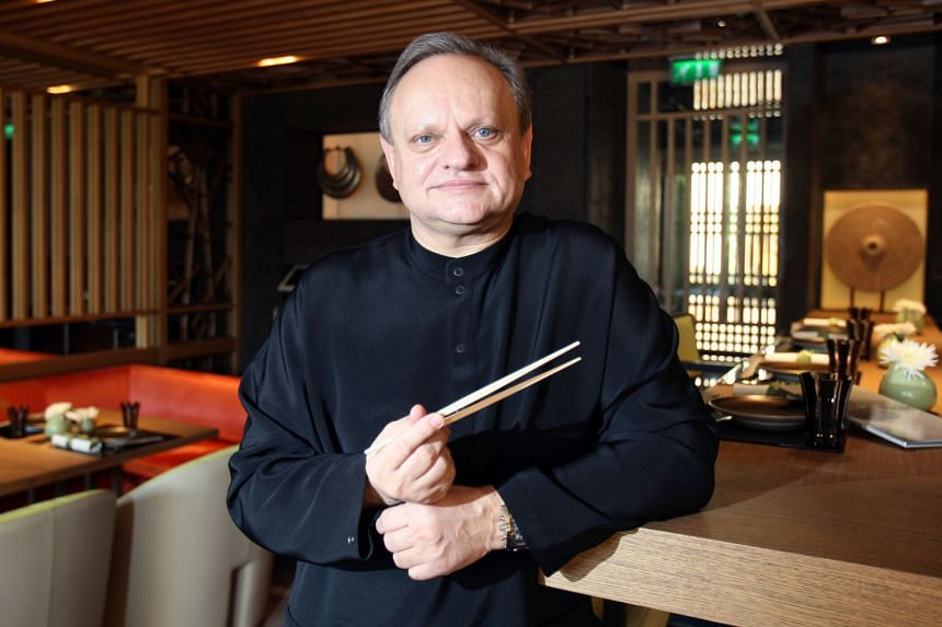 French chef Joel Robuchon poses at Yoshi, his first ever Japanese restaurant, in Monaco, Dec 29, 2008.